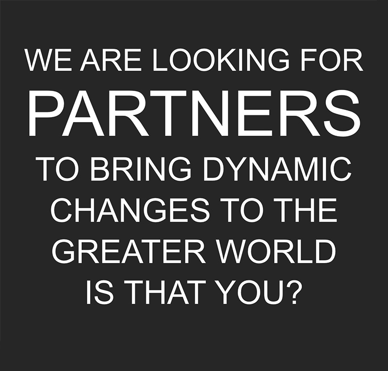 We are looking for partners